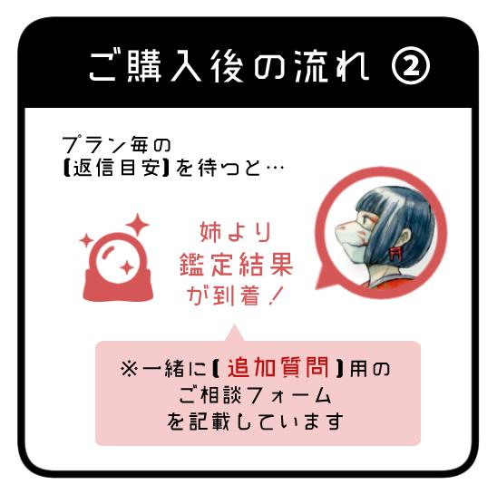 姉鑑定・ご購入後の流れ②